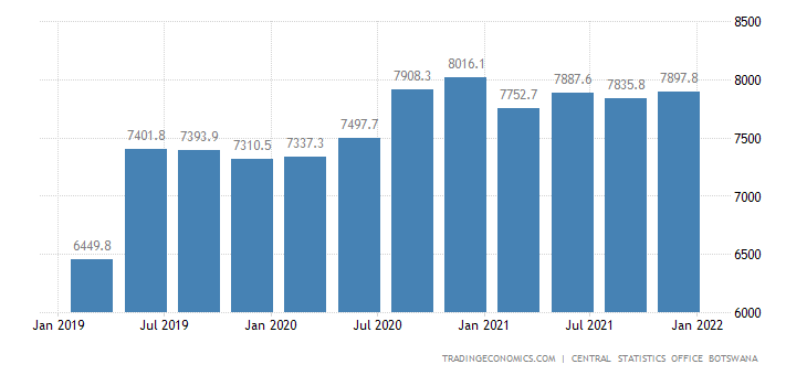 Botswana GDP From General Government