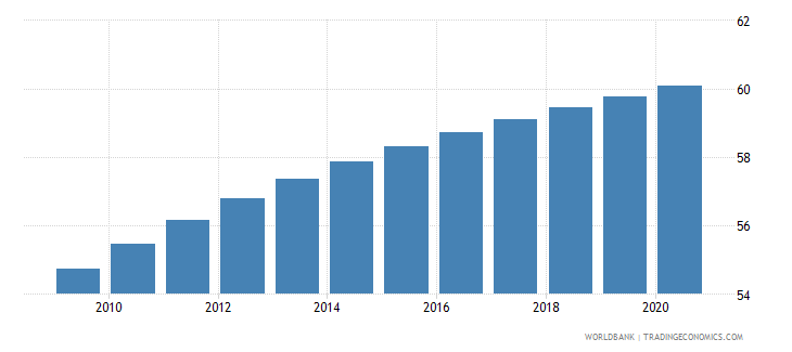burundi life expectancy at birth male years wb data