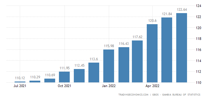 Gambia Consumer Price Index Cpi