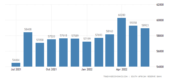 South Africa Foreign Exchange Reserves
