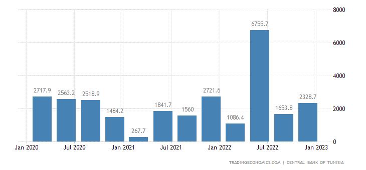 Tunisia Capital Flows