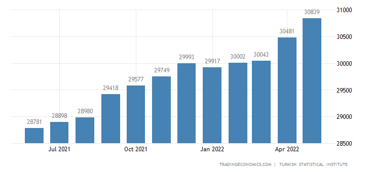 Turkey Employed Persons